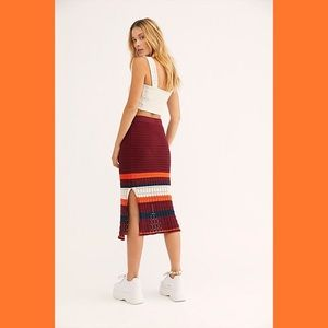 NWT Free People Crochet Midi Skirt